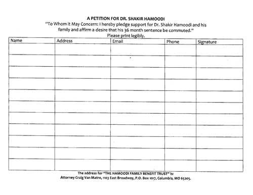 shakir hamoodi petition for clemency